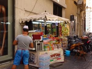 ローマの露店
