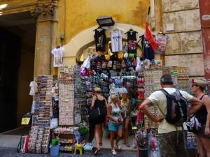 ローマの土産店