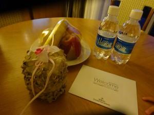ホテルルームのウェルカム