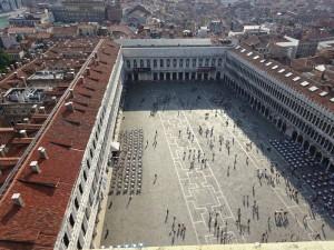 鐘楼の上からサンマルコ広場